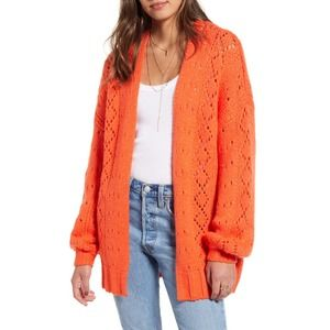 NWOT BILLABONG Blissed Out Pointelle Knit Cardigan